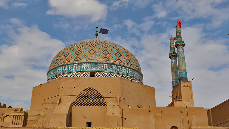 Persian architecture, the dome of Jame mosque of Yazd