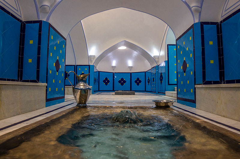 Hot pool or Khazineh in Iranian bathhouse structure