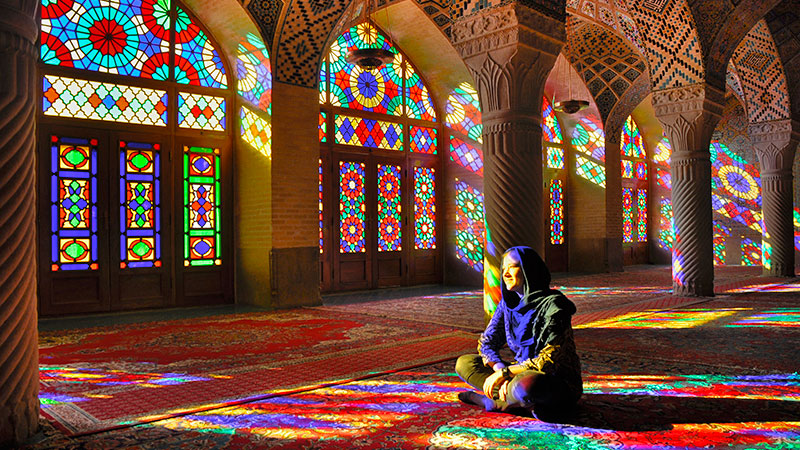nasir ol-molk stained-glass windows