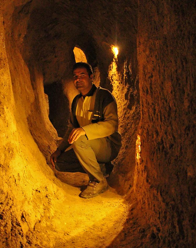 qanat underground alleys in Adakan city