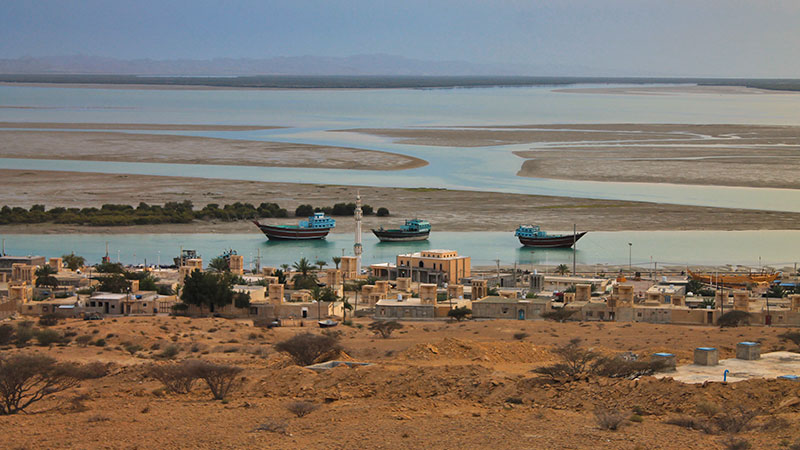 qeshm island in the Persian Gulf