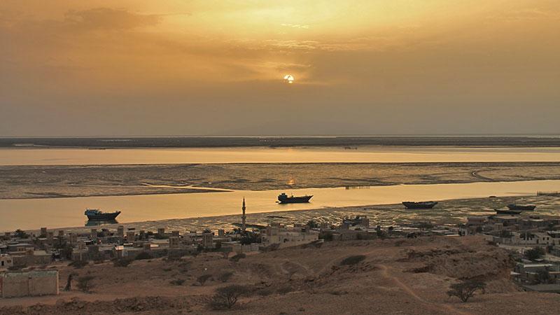 Qeshm island in Persian Gulf