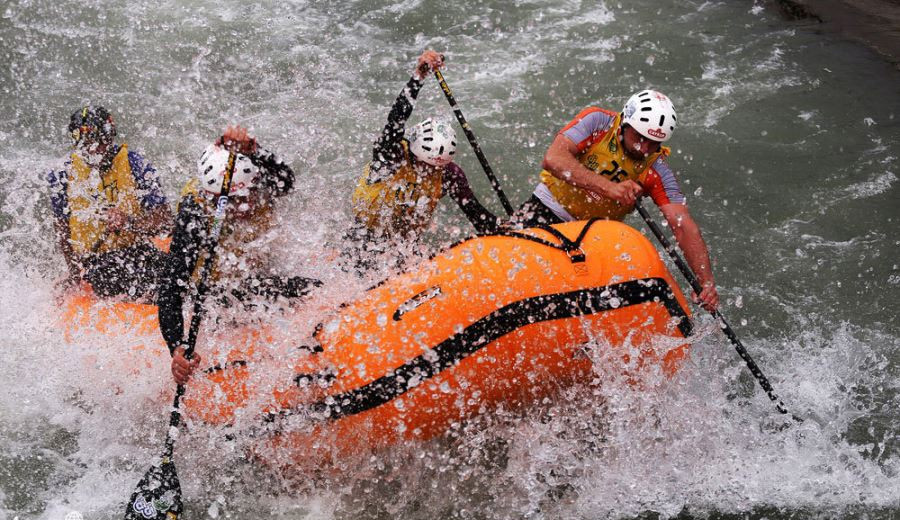 Rafting on roaring waters of Iran