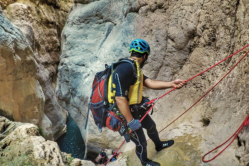 Canyoning in Raghaz canyon Darab, Iran