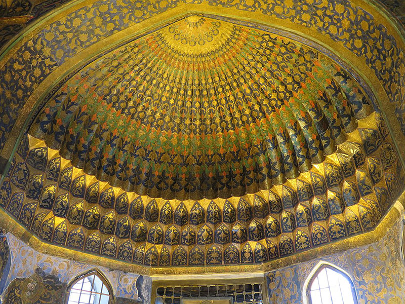 The roof of Sheikh Safi's tomb in Ardabil