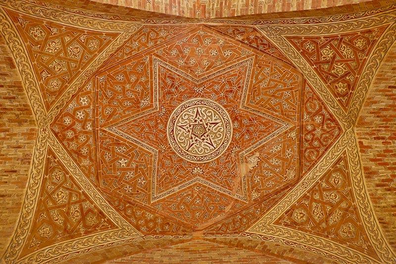 interior decoration of UNESCO world heritage of Soltaniyeh
