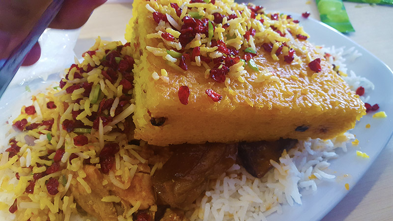 Zereshk polo and Tahchin, Iranian cookery
