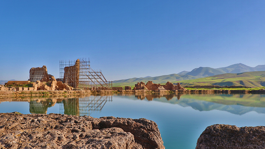 Takht- e Soleyman lake in Takab