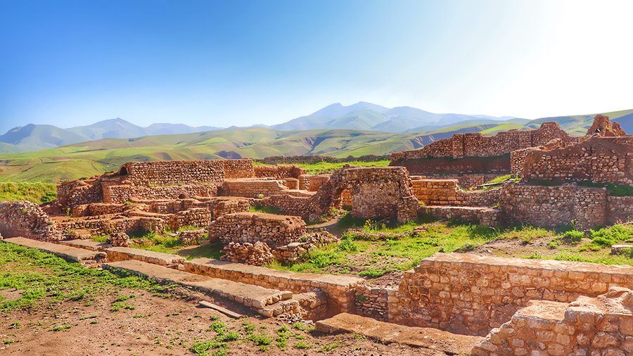 Takht-e Soleyman or Azargoshanb site, the world heritage treasure of Iran