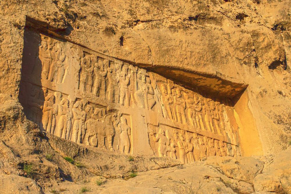 Bas reliefs of Tang-e Chogan