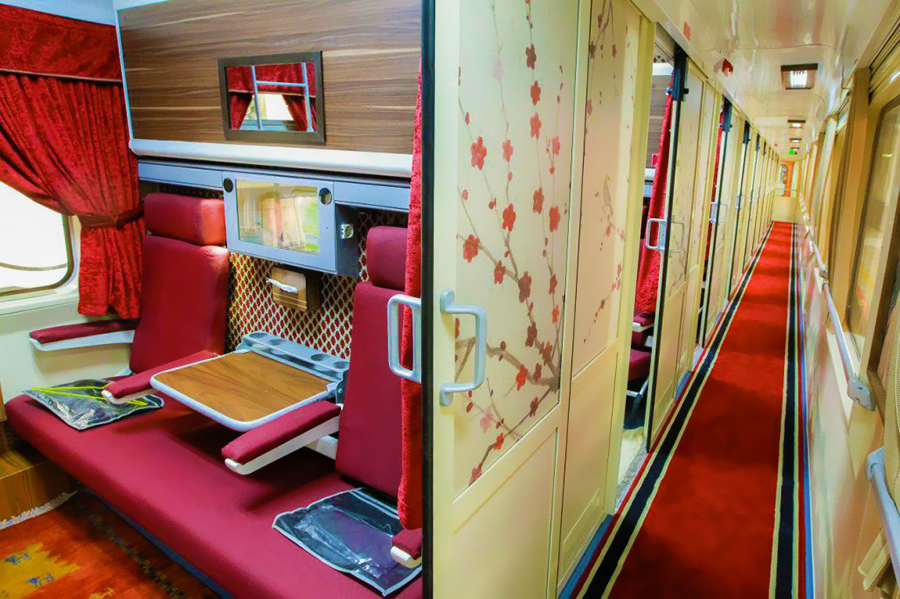 Inside of Raja Zendegi Train