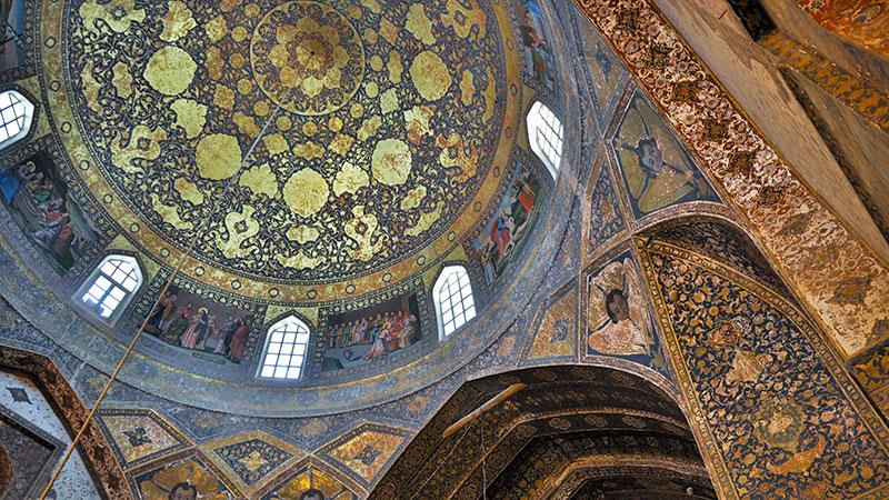 Armenian church in Isfahan Iran