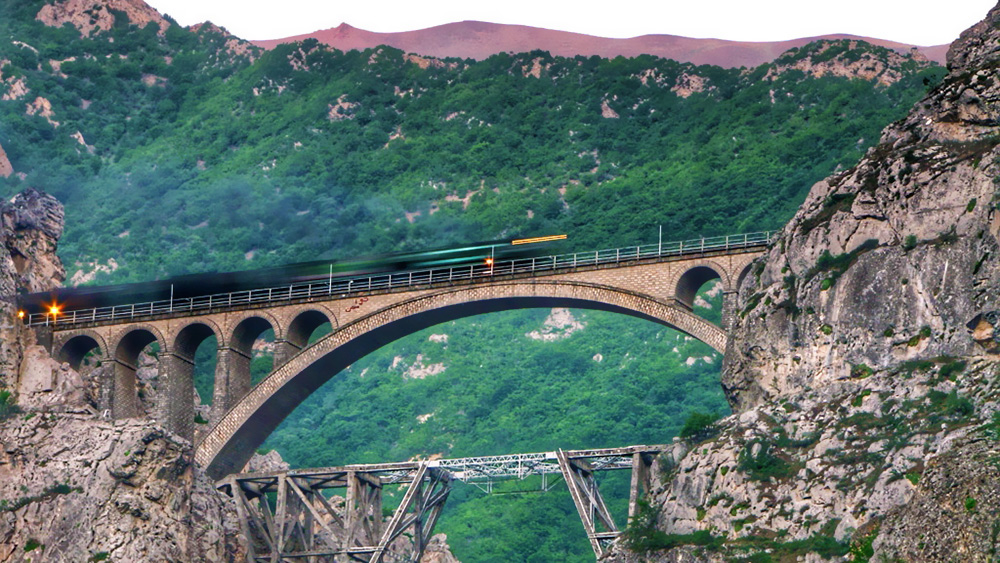 Veresk Bridge the second longest railway of Iran