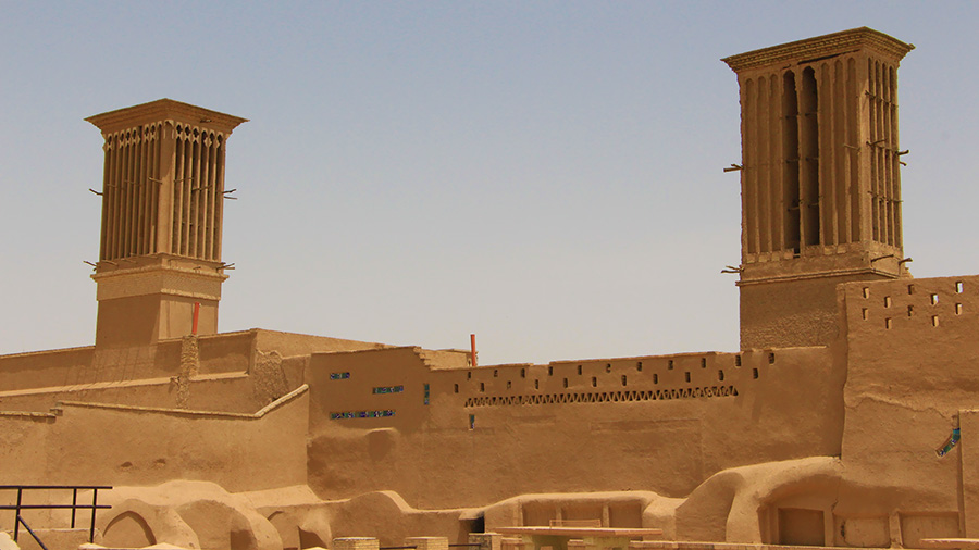 Badgir or wind-catcher is the sign of Yazd