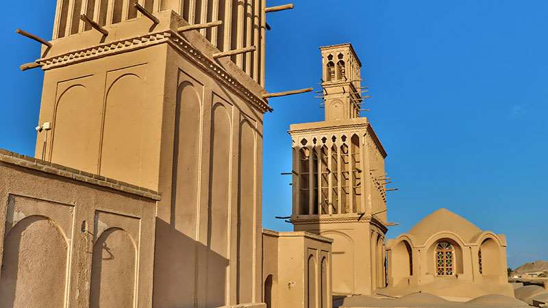 windcatcher or wind towers of Yazd