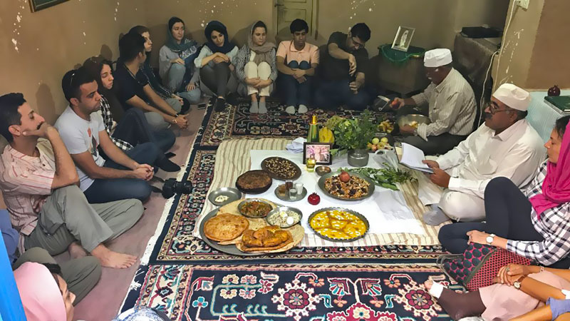 gahanbar celebration in a zoroastrian house
